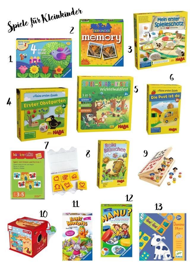 Erste Spiele - Spiele für Kleinkinder